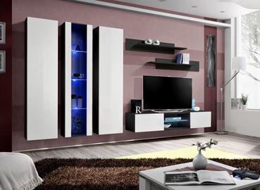 ASM Fly P4 Living Room Wall Unit Set White/Black
