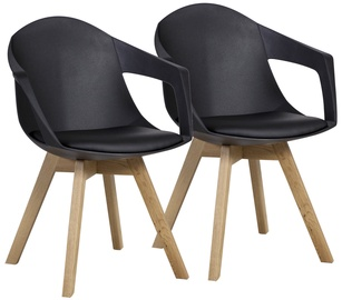 Home4you Chairs Stuart Black 2pcs