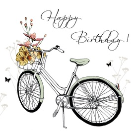Clear Creations Bicycle Birthday Card CL1212