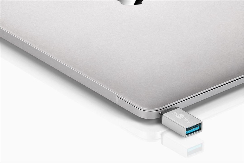 Адаптер Goobay Adapter USB To USB Type C Silver