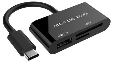 Gembird USB Type-C SDXC Combo Card Reader OTG Black