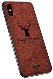 Mocco Deer Back Case For Apple iPhone X/XS Brown