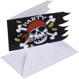 Amscan Jolly Roger Invitations & Envelopes 551943