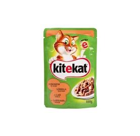 Konservuotas kačių ėdalas Kitekat, su lašiša ir upėtakiu, 100 g.
