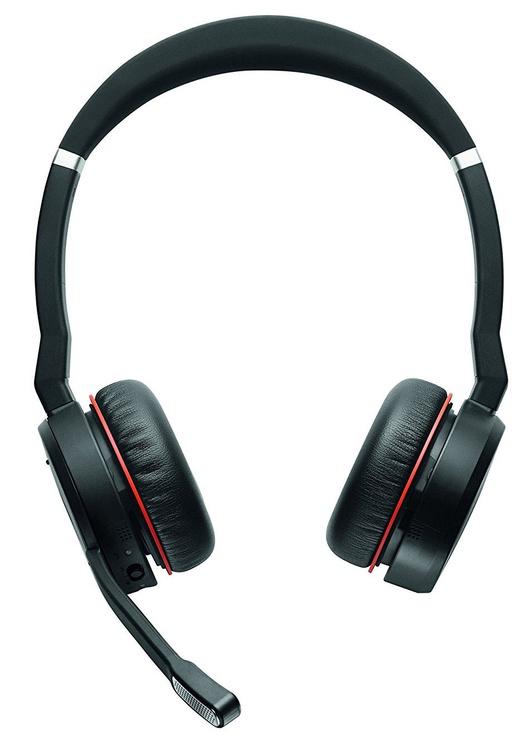 Ausinės Jabra Evolve 75 MS Stereo Black, belaidės