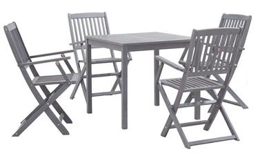 Välimööbli komplekt VLX Garden Dining Set, hall, 4 istekohta