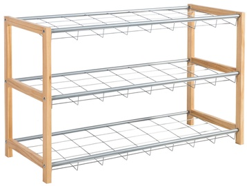 Home4you Shoe Shelf Brody Silver 23010