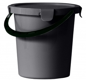 Plast Team Berry Bucket With Lid 29x29x23.8cm 10l Grey