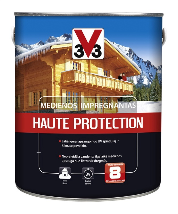 Impregnantas V33 Haute Protection, palisandro spalvos, 2.5 l