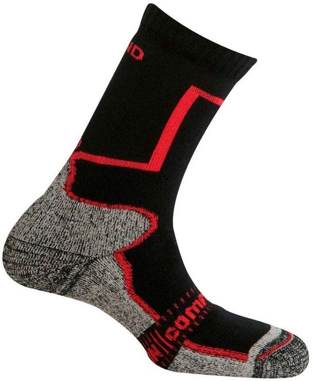 Носки Mund Socks Pamir Black/Red, 38-41, 1 шт.