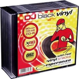 Esperanza Vinyl 2094 CD-R 48X 700MB 10 Pack Slim Jewel Case