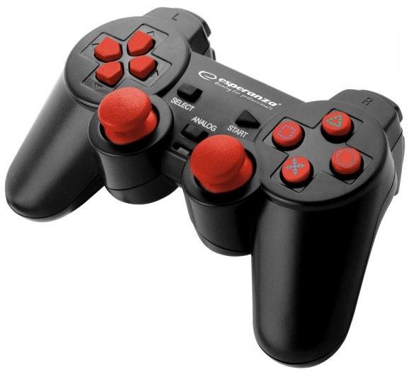 Esperanza Corsair USB Gamepad Black/Red