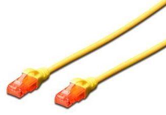 Digitus Premium CAT 6 UTP Patch Cable Yellow 0.5m