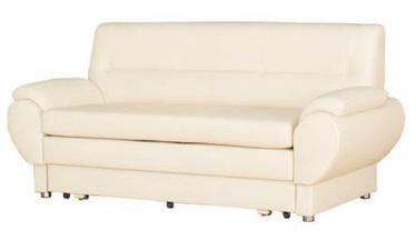Bodzio Livonia Folding Sofa 3 Eco Leather Cream
