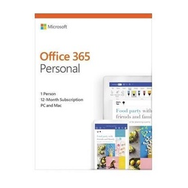 Microsoft Office 365 Personal 1-Year EuroZone English Medialess Box
