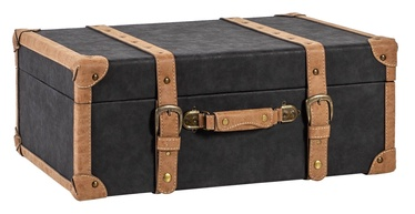 Home4you Oswald Trunk XL 74x50x30cm Black