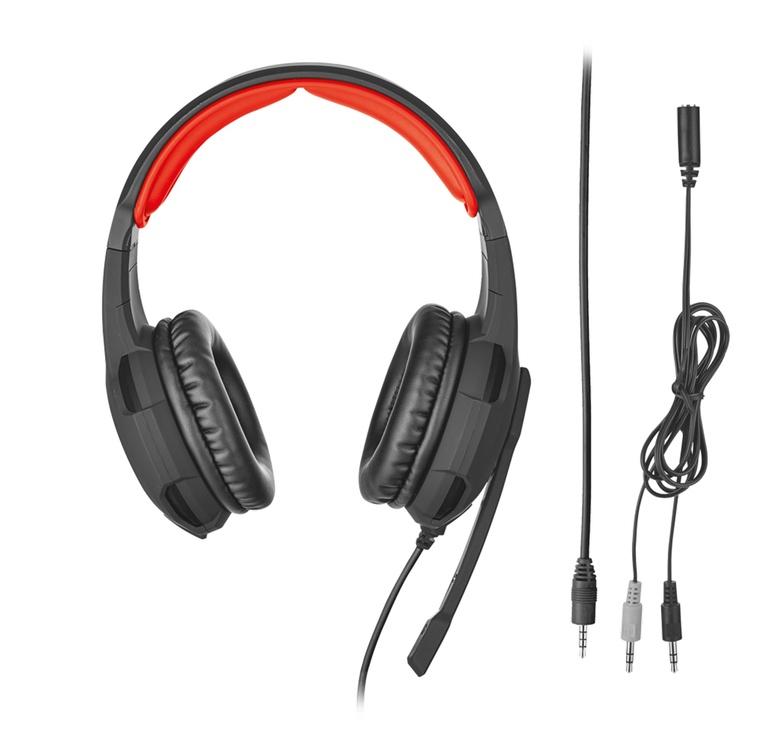 Žaidimų ausinės Trust GXT 310 Black/Red