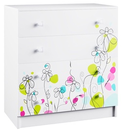 DSV Raduga KMD 800.1 Chest Of Drawers White Gloss