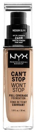 NYX Can't Stop Won't Stop Full Coverage Foundation 30ml Medium Olive