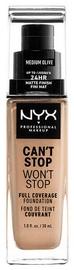 Tonizējošais krēms NYX Can't Stop Won't Stop CSWSF09 Medium Olive, 30 ml