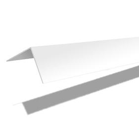 Nurgaliist PVC C30 30X30 mm 2.7 m valge