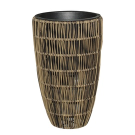 Home4you Wicker Flowerpot D30x60cm Brown