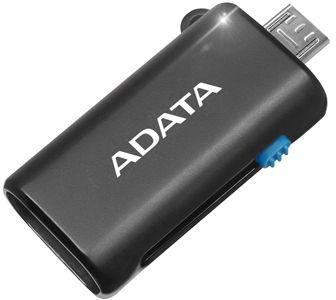 Mini Sd Kartenleser.Adata Usb Otg Microsd Card Reader Black
