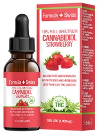 Formula Swiss Cannabidiol Strawberry Full Spectrum 10ml 10%