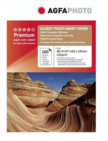 Fotopaber AgfaPhoto Premium Glossy Photo Inkjet Paper A6 210g 100pcs