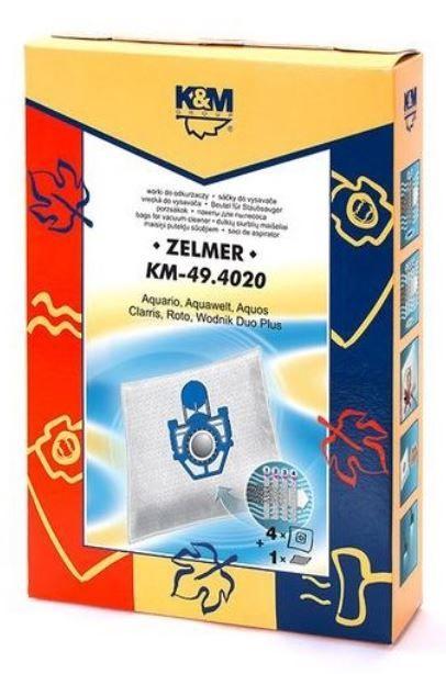 Dulkių siurblio maišelis K&M Group for Zelmer, 4 vnt. + Microfilter