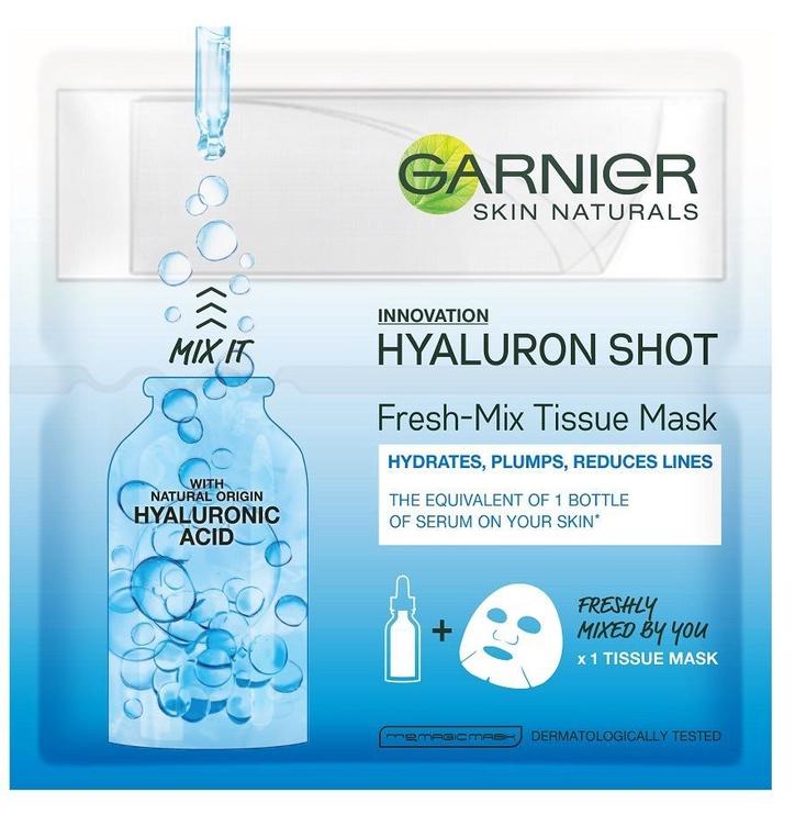 Veido kaukė Garner Skin Naturals Hyaluron Shot Fresh Mix Tissue Mask, 1 vnt.