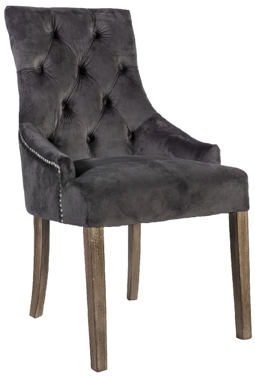 Стул для столовой Home4you Holmes Velvet Dark Grey, 1 шт.