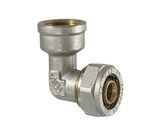 """Užveržiamoji alkūnė, TDM Brass, 32 mm x 1"""" x 3 mm, su vidiniu sriegiu"""