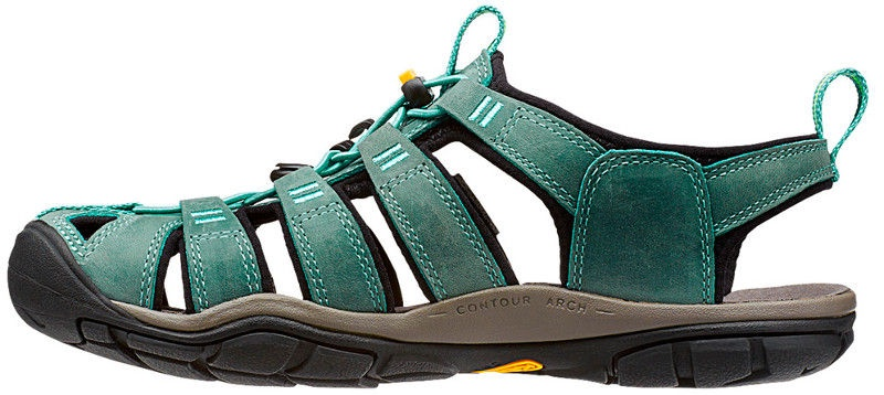 Keen Clearwater CNX Leather Women Mineral Blue/Yellow 40