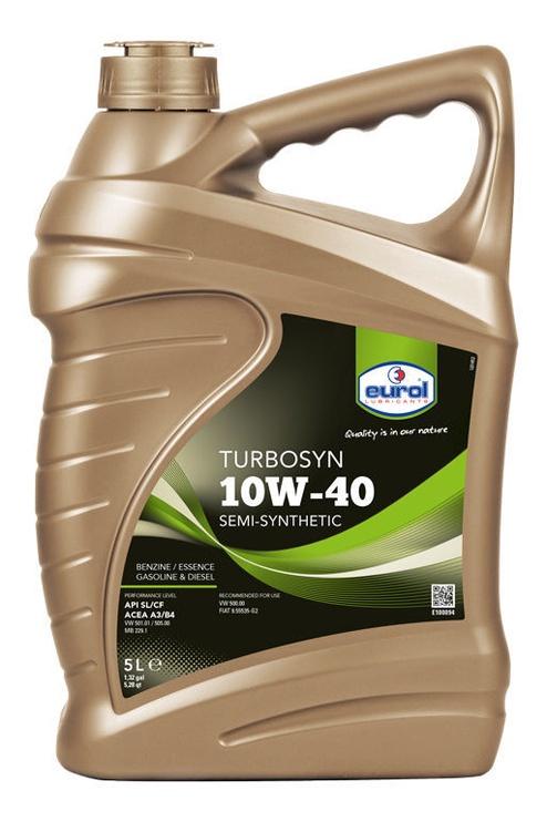 Mootoriõli Eurol Turbosyn 10W - 40, poolsünteetiline, sõiduautole, 5 l