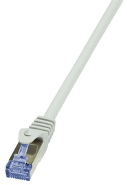 LogiLink Patch Cable Cat.6A from Cat.7 600 MHz S/FTP PIMF PrimeLine 10m Grey