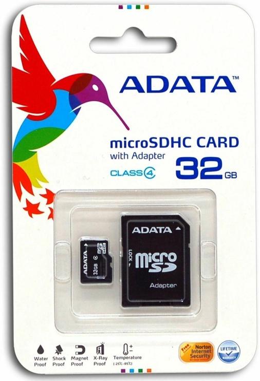 Mälukaart ADATA 32GB Micro SDHC Premier UHS-I U1 Class 10 + Adapter