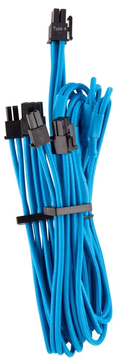Corsair Premium Individually Sleeved PCIe Cables with Dual Connector Type 4 (Gen 4) Blue