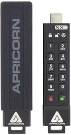 USB zibatmiņa Apricorn Aegis Secure Key 3NXC, melna, 4 GB