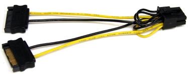 Кабель StarTech SATPCIEX8ADP 0065030846622, черный/желтый, 0.15 м