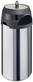 Meliconi Inox Outdoor Waste Bin With Ashtray 60l