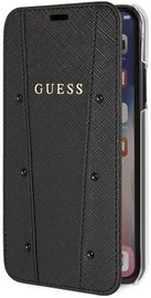 Guess Kaia Saffiano Book Case For Apple iPhone X/XS Black