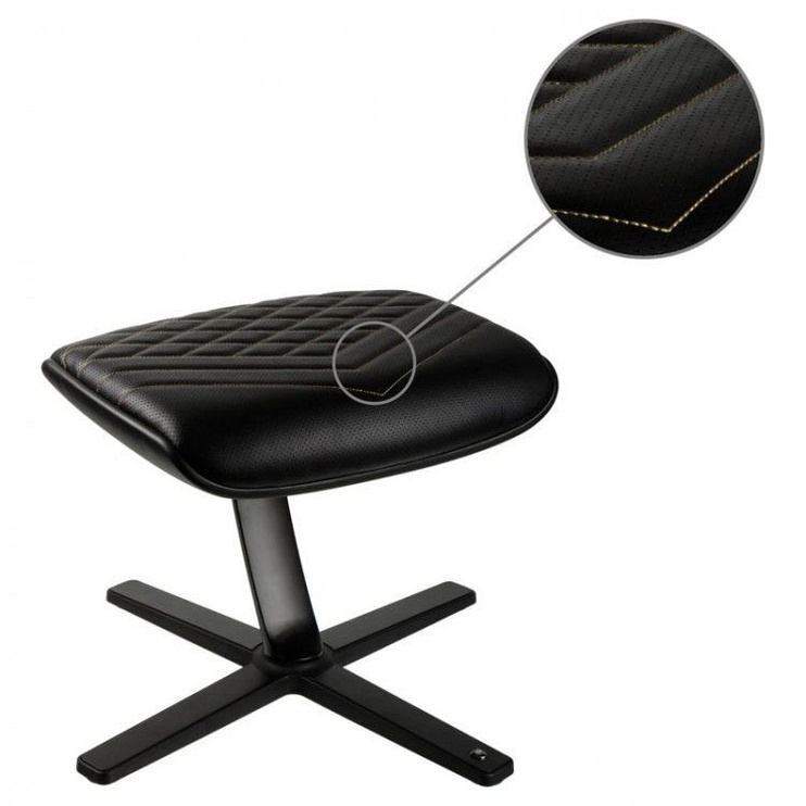 Noblechairs Footrest PU Leather Black/Gold