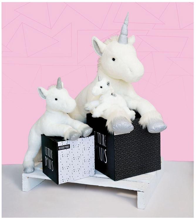 Pliušinis žaislas Doudou Et Compagnie Unicorn Argent HO2570, baltas, 60 cm