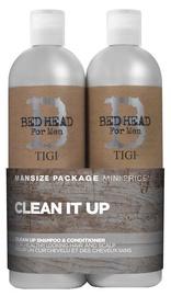 Tigi Bed Head For Men Clean It Up 750ml Shampoo + 750ml Conditioner