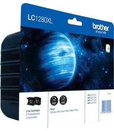 Brother LC1280XLBK Twin Pack Black
