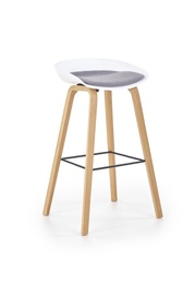 Halmar H-86 Bar Stool White/Grey