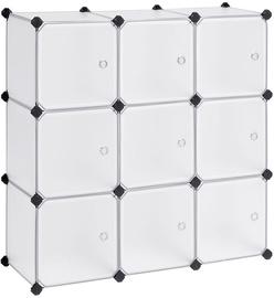 Songmics 9-Cube Plastic Storage Organizer 93x31x123cm White