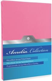 Palags DecoKing Amelia 2, rozā, 200x220 cm, ar gumiju