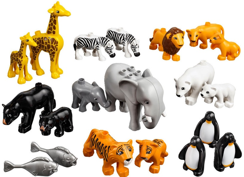 Konstruktorius LEGO Duplo Wild Animals Set 45012